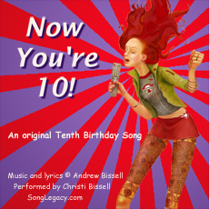 CD cover for original tenth birthday song
